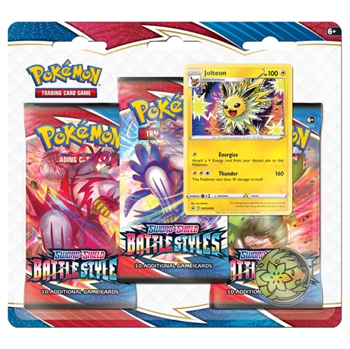 Pokemon Sword & Shield - Battle Styles - 3-pack Booster Pakke - Jolteon